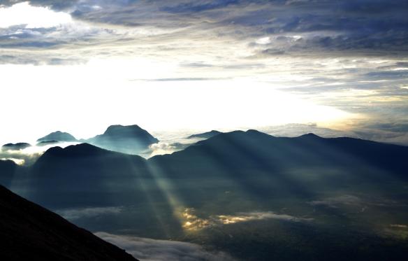 Sunrise at Gunung Tujuh Lake