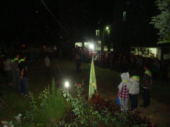 Suasana penutupan di depan sekretariat Paitua-MTU