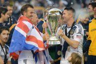Bersama Robbie Keane saat menjuarai MLS Cup