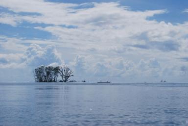 Panorama di tengah lautan