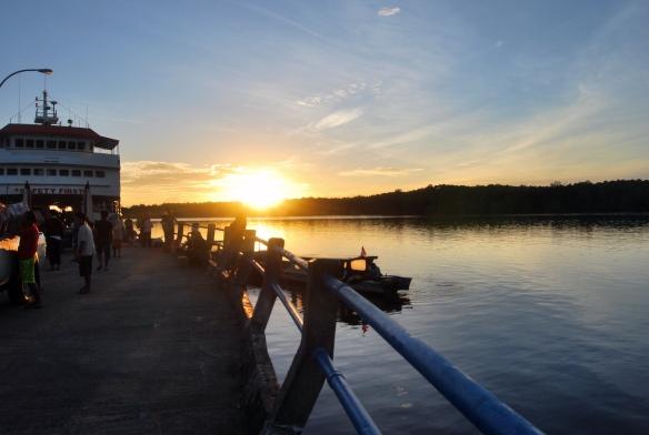 Pelabuhan Muara Siberut di pagi hari